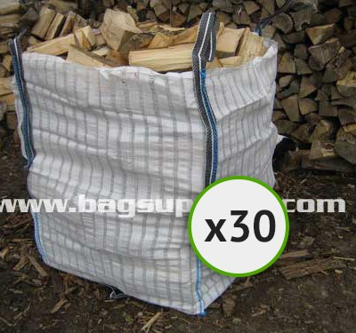 21 Stripe Vented Log Bags - (30)