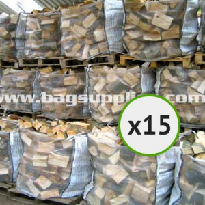 Bulk Vented Log Bags - White (15)