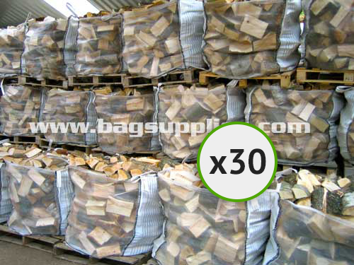 Bulk Vented Log Bags - White (30)