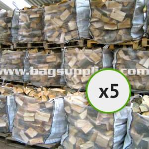 Bulk Vented Log Bags - White (5)