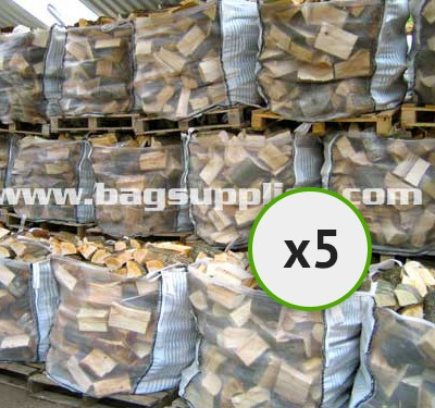 Bulk Vented Log Bags - White (5)