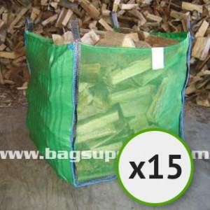Bulk Vented Log Bags - Green (15)