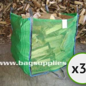 Bulk Vented Log Bags - Green (30)