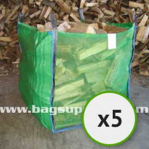 Bulk Vented Log Bags - Green (5)
