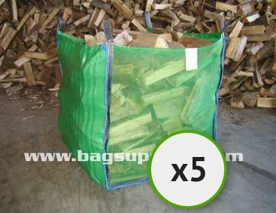 Bulk Vented Log Bags - Green (5)